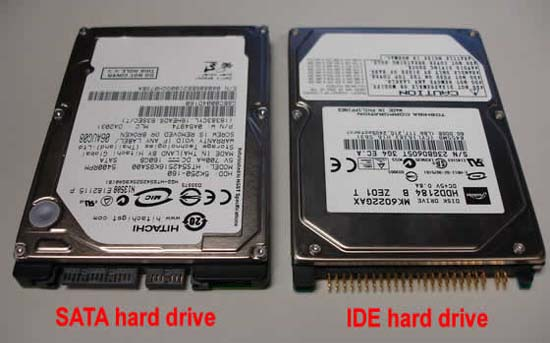 SATA and IDE drives for laptops